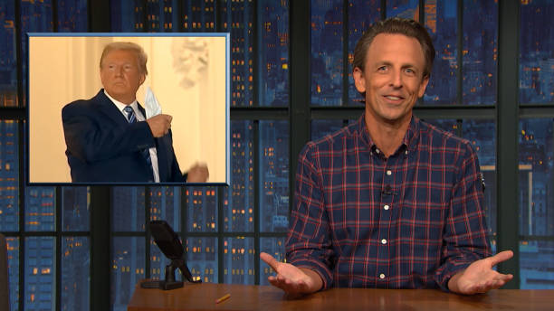 "NY: NBC'S ""Late Night With Seth Meyers"" With Guests Timothy Olyphant, Bob Woodward, BENEE"