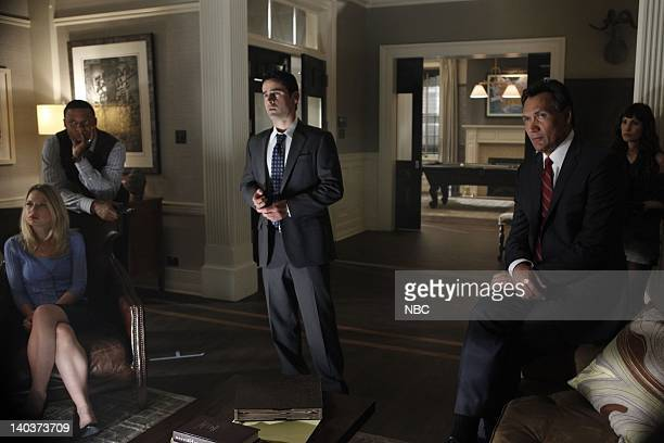 Episode 105 -- Pictured: EllenWoglom as Mereta, David Ramsey as Al Druzinsky, Jess Bradford as Eddie Franks, Jimmy Smits as Cyrus Garza, Carly Pope...