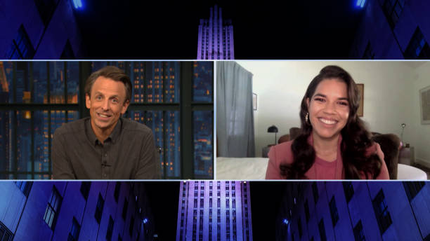 "NY: NBC'S ""Late Night With Seth Meyers"" With Guests America Ferrera, Ina Garten, David Remnick"