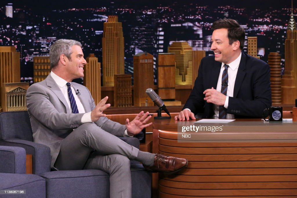 "NY: NBC'S ""Tonight Show Starring Jimmy Fallon"" With Guests Andy Cohen, Mario, Michael, & Marco Andretti, José Andrés"
