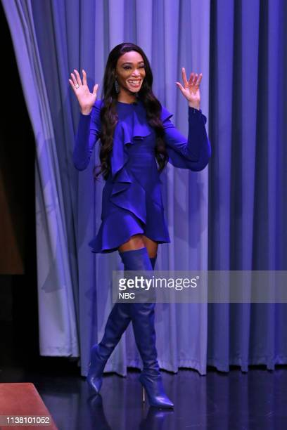 Model Winnie Harlow arrives to the show on April 19 2019