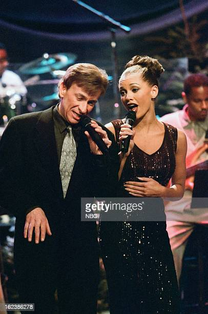 Musical guests Bobby Caldwell and Vanessa Williams perform on December 16 1996
