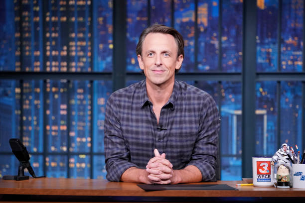 "NY: NBC'S ""Late Night With Seth Meyers"" With Guests Adam Sandler, Jason Alexander (Band Sit-In: Todd Sucherman)"