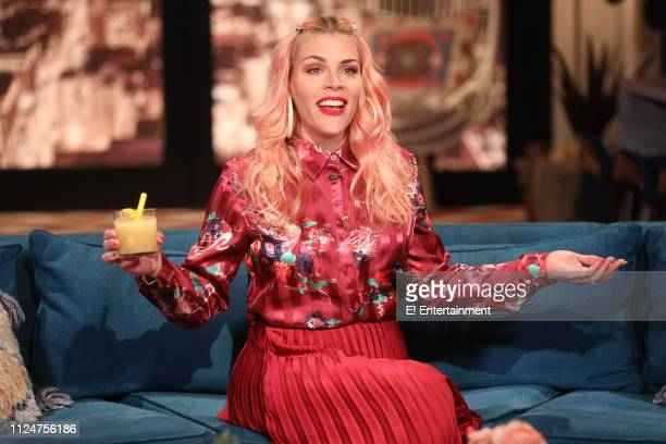Episode 1054 -- Pictured: Host Busy Philipps on the set of Busy Tonight --