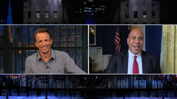 "NY: NBC'S ""Late Night With Seth Meyers"" With Guests Sen. Cory Booker, Yahya Abdul-Mateen II (Band Sit-In: Todd Sucherman)"