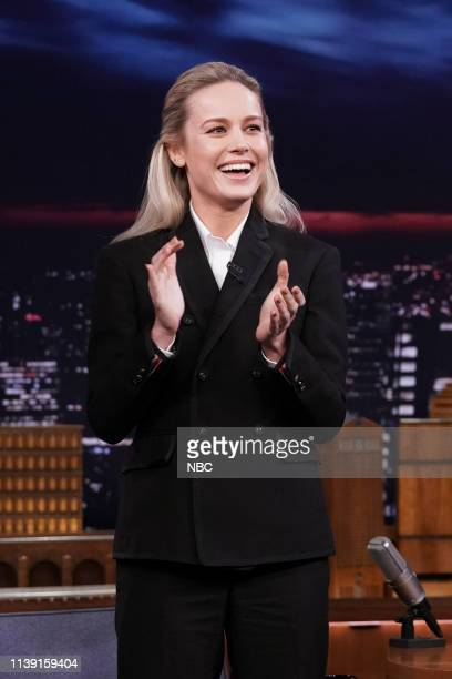 Actress Brie Larson arrives to the show on April 24 2019