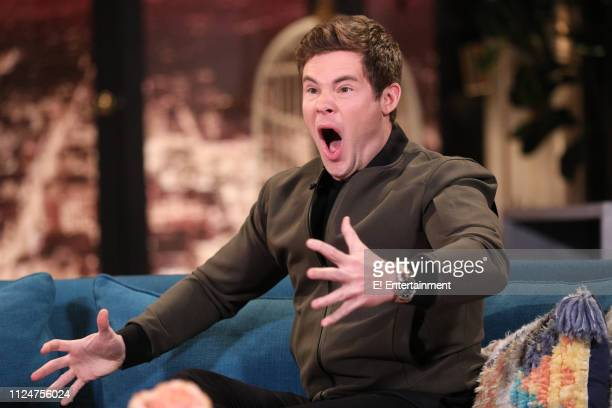 Guest Adam Devine on the set of Busy Tonight