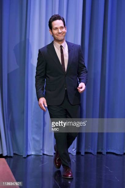 Actor Paul Rudd arrives to the show on April 25 2019