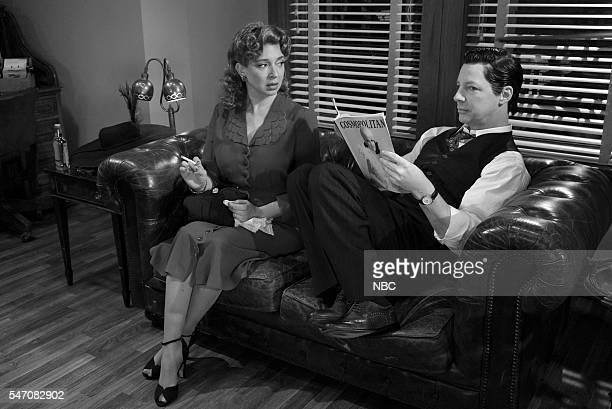 Maya Rudolph Sean Hayes as Detective Burt Cassidy during the 'Burt Cassidy Gay Detective' sketch on July 12 2016