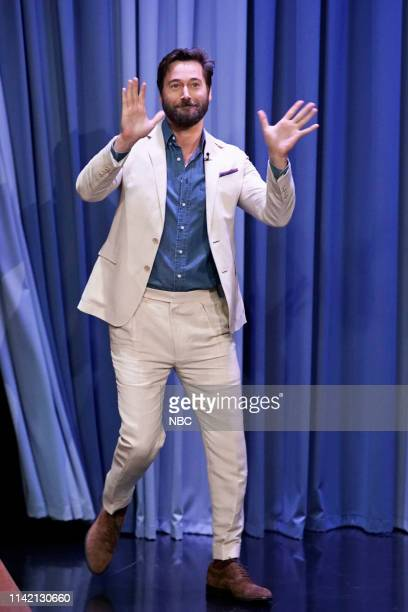 Episode 1063 -- Pictured: Actor Ryan Eggold arrives to the show on May 7, 2019 --