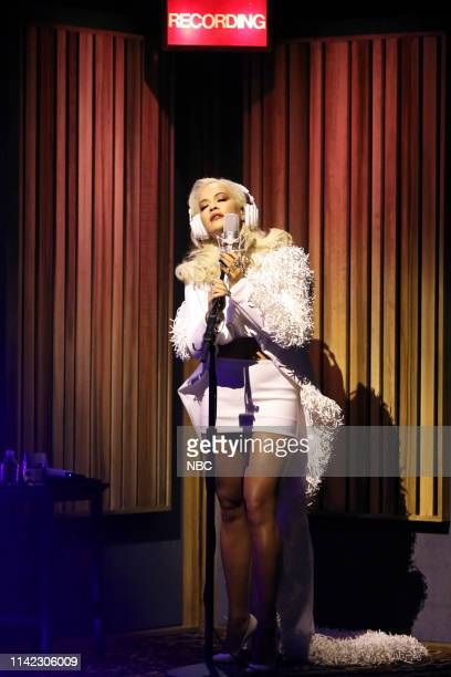 Episode 1064 -- Pictured: Musical guest Kygo & Rita Ora perform on May 8, 2019 --