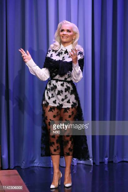 Episode 1064 -- Pictured: Singer Rita Ora arrives to the show on May 8, 2019 --