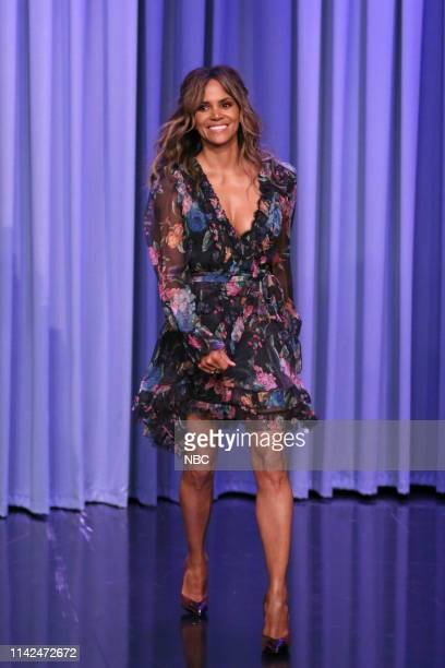 Episode 1065 -- Pictured: Actress Halle Berry arrives to the show on May 9, 2019 --