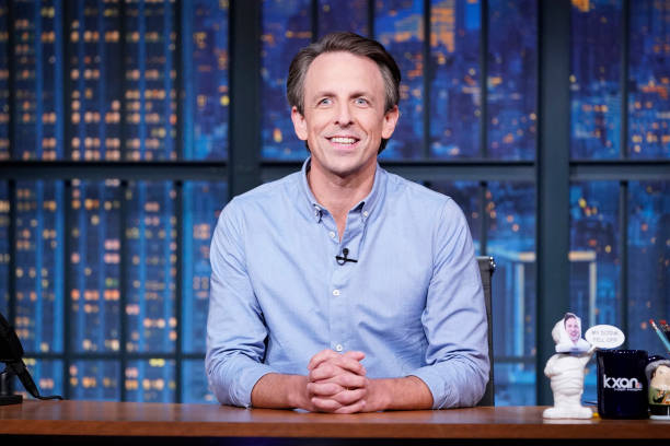 """NY: NBC'S """"Late Night with Seth Meyers"""" With Guests Ethan Hawke, Lewis Black (Band Sit-In: Carter McLean)"""