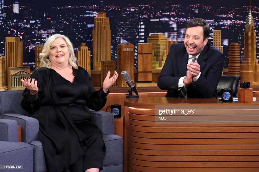 "NY: NBC's ""Tonight Show Starring Jimmy Fallon"" With Guests Emma Thompson, Sophie Turner, Paula Pell, Amirah Kassem"