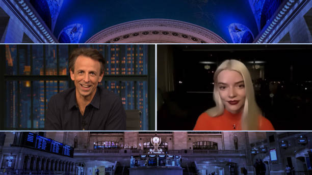 """NY: NBC'S """"Late Night with Seth Meyers"""" With Guests Dan Aykroyd, Anya Taylor-Joy (Band Sit-In: Carter McLean)"""