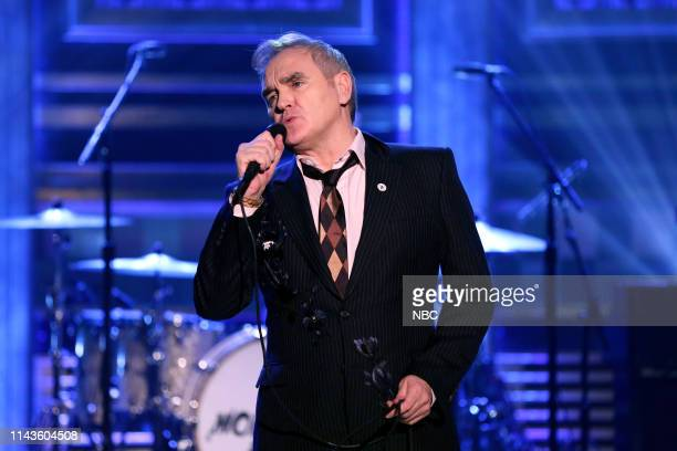 Musical guest Morrissey performs on May 13 2019