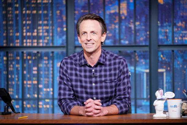 """NY: NBC'S """"Late Night with Seth Meyers"""" With Guests Kaley Cuoco, Cazzie David (Band Sit-In: Valerie Franco)"""