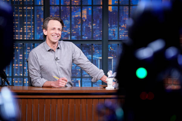 """NY: NBC'S """"Late Night With Seth Meyers"""" With Guests Hugh Laurie, Rachel Bloom LP (Band Sit-In: Valerie Franco)"""