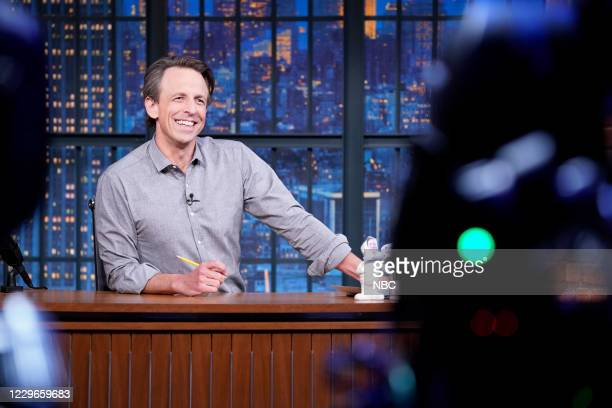 Episode 1068A -- Pictured: Host Seth Meyers during the monologue on November 17, 2020 --