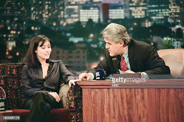 Actress Shannen Doherty during an interview with host Jay Leno on January 10 1997