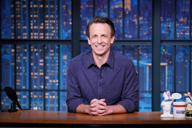 "NY: NBC'S ""Late Night With Seth Meyers"" With Guests Amy Adams, Adam Davidson"