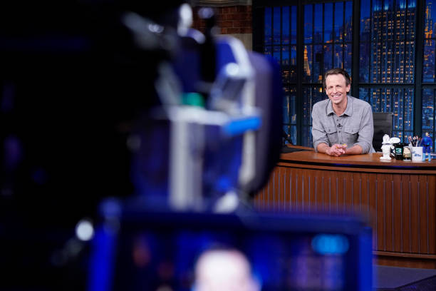"NY: NBC'S ""Late Night with Seth Meyers"" With Guests John Oliver, Joe Buck"