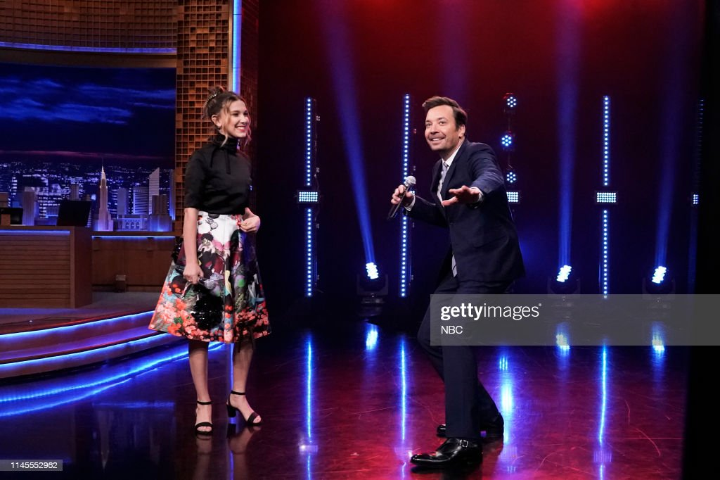 "NY: NBC's ""Tonight Show Starring Jimmy Fallon"" With Guests Millie Bobby Brown, Jeff Ross, Richard Curtis, LANG LANG"