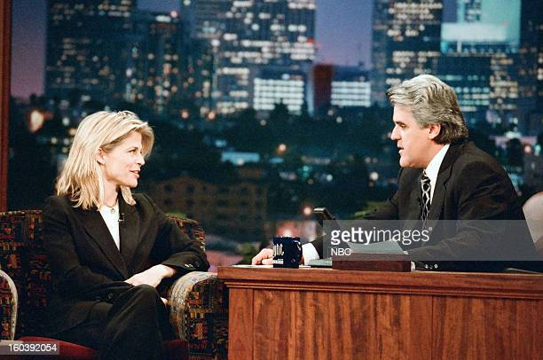 Actress Linda Hamilton during an interview with host Jay Leno on January 27 1997