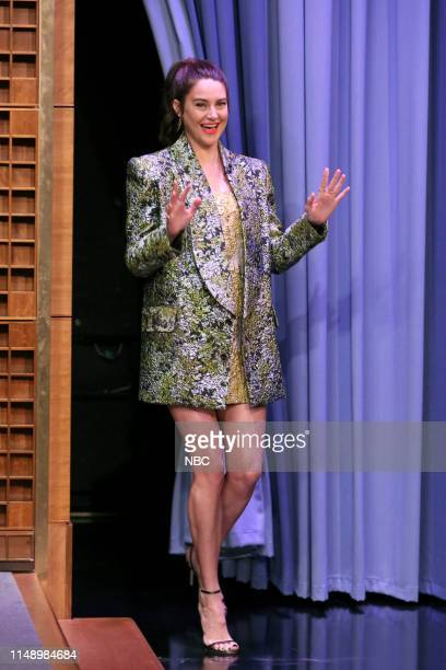 Episode 1077 -- Pictured: Actress Shailene Woodley arrives to the show on June 10, 2019 --