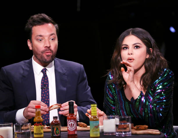 "NY: NBC's ""Tonight Show Starring Jimmy Fallon"" With Guests Selena Gomez, Elaine Welteroth, GOLDLINK FT. MALEEK BERRY"