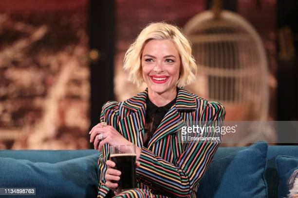 Guest Jaime King on the set of Busy Tonight