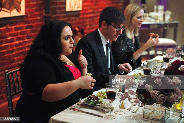 S DINNER PARTY Episode 108 Runway Ready Pictured Actress Nikki Blonsky radio personaloty Rico Gagliano broadcaster/journalist Katrina Szish
