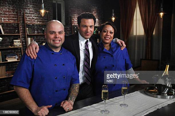 S DINNER PARTY Episode 108 Runway Ready Pictured Contetsants Frank Otte Rocco DiSpirito Sharon Robustelli