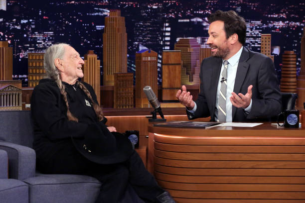 """NY: NBC's """"Tonight Show Starring Jimmy Fallon"""" With Guests Willie Nelson, Adam Devine, WILLIE NELSON"""