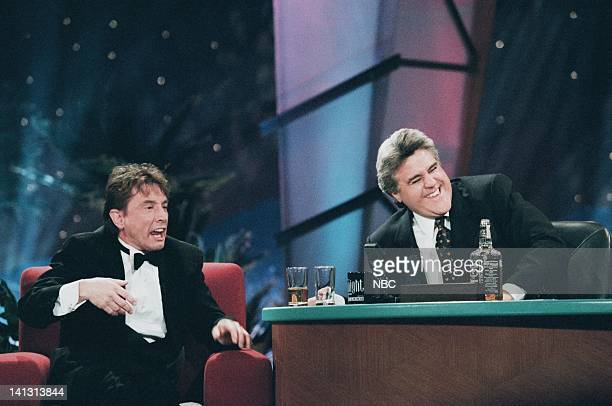 LENO Episode 1085 Air Date Pictured Actor/comedian Martin Short during an interview with host Jay Leno on February 7 1997 Photo by Margaret...