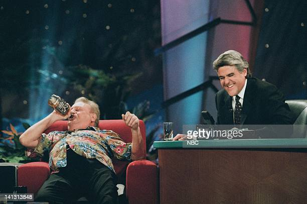LENO Episode 1085 Air Date Pictured Actor/comedian Rodney Dangerfield during an interview with host Jay Leno on February 7 1997 Photo by Margaret...