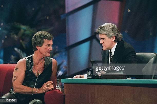 LENO Episode 1085 Air Date Pictured Singer Pat Boone during an interview with host Jay Leno on February 7 1997 Photo by Margaret Norton/NBCU Photo...