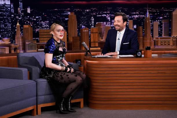 "NY: NBC's ""Tonight Show Starring Jimmy Fallon"" With Guests Madonna, Guy Raz, ARI LENNOX"