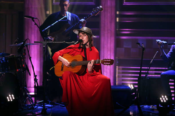 """NY: NBC's """"Tonight Show Starring Jimmy Fallon"""" With Guests Chrissy Teigen, Bashir Salahuddin and Diallo Riddle, ALDOUS HARDING"""