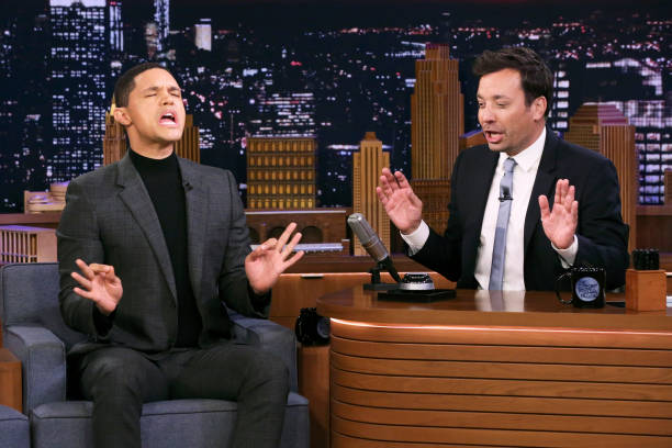 "NY: NBC's ""Tonight Show Starring Jimmy Fallon"" With Guests Trevor Noah, Sebastian Maniscalco, Penn & Teller"