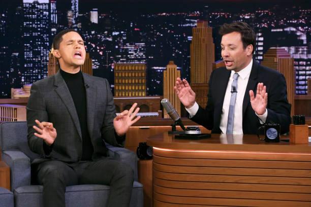 "NY: NBC's ""Tonight Show Starring Jimmy Fallon"" With Guests Trevor Noah, Sebastian Maniscalco, Penn & Teller"