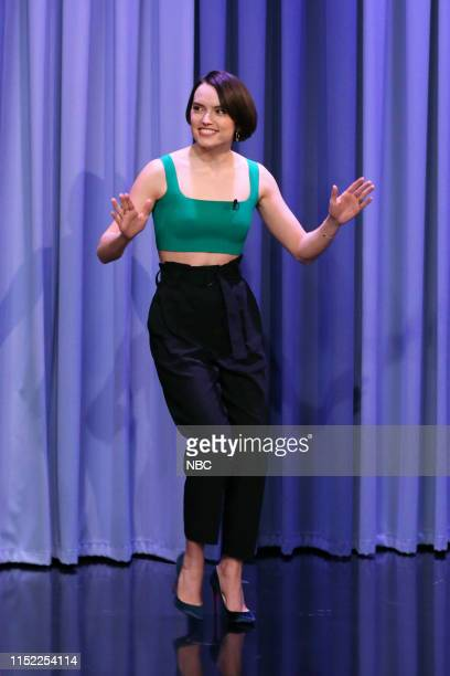Episode 1088 -- Pictured: Actress Daisy Ridley arrives to the show on June 26, 2019 --