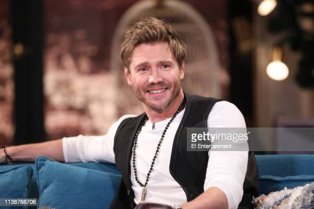 Guest Chad Michael Murray on the set of Busy Tonight