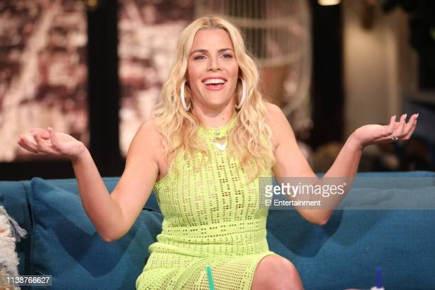 Host Busy Philipps on the set of Busy Tonight