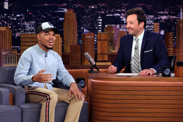 """NY: NBC's """"Tonight Show Starring Jimmy Fallon"""" With Guests Chance The Rapper, Special Cameo: Jennifer Lopez, David Crosby & Cameron Crowe, DAVID CROSBY"""