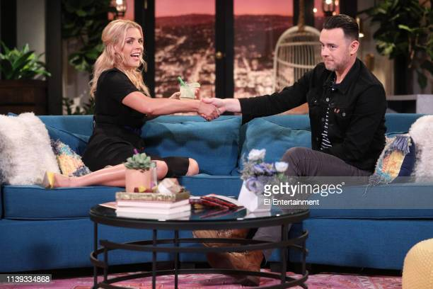 Host Busy Philipps and Guest Colin Hank on the set of Busy Tonight