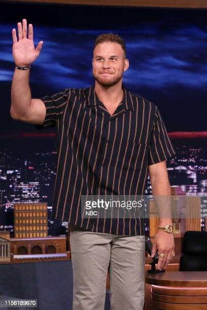 Episode 1092 -- Pictured: Basketball player Blake Griffin arrives to the show on July 17, 2019 --