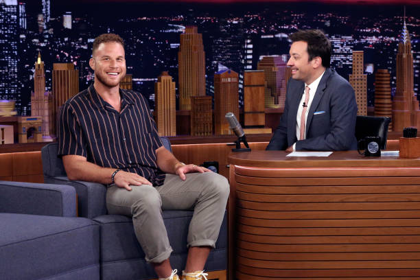 "NY: NBC's ""Tonight Show Starring Jimmy Fallon"" With Guests Joel McHale, Marc Maron, Blake Griffin, Dusty Slay"