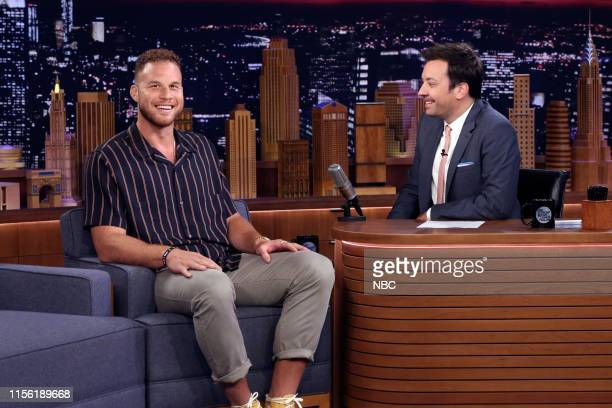 Episode 1092 -- Pictured: Basketball player Blake Griffin during an interview with host Jimmy Fallon on July 17, 2019 --
